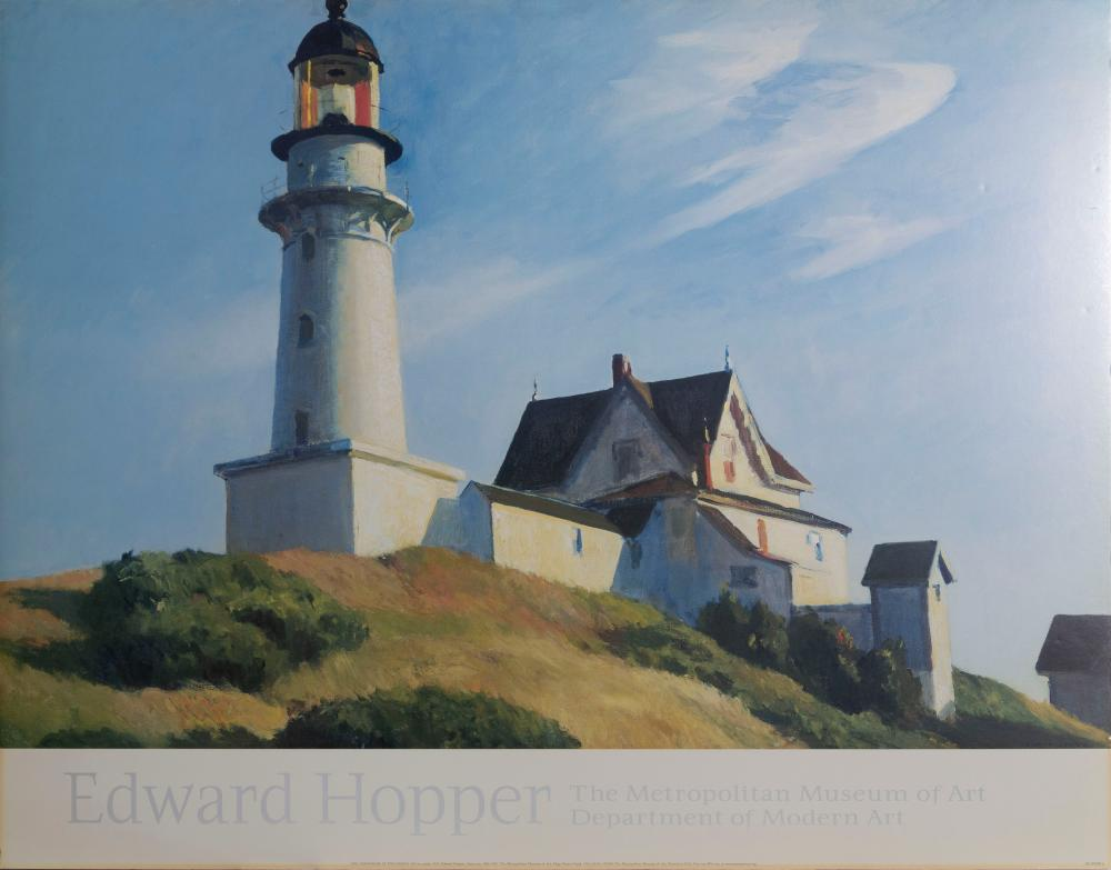 Edward Hopper, The Lightouse at Two Lights, Poster on foamcore