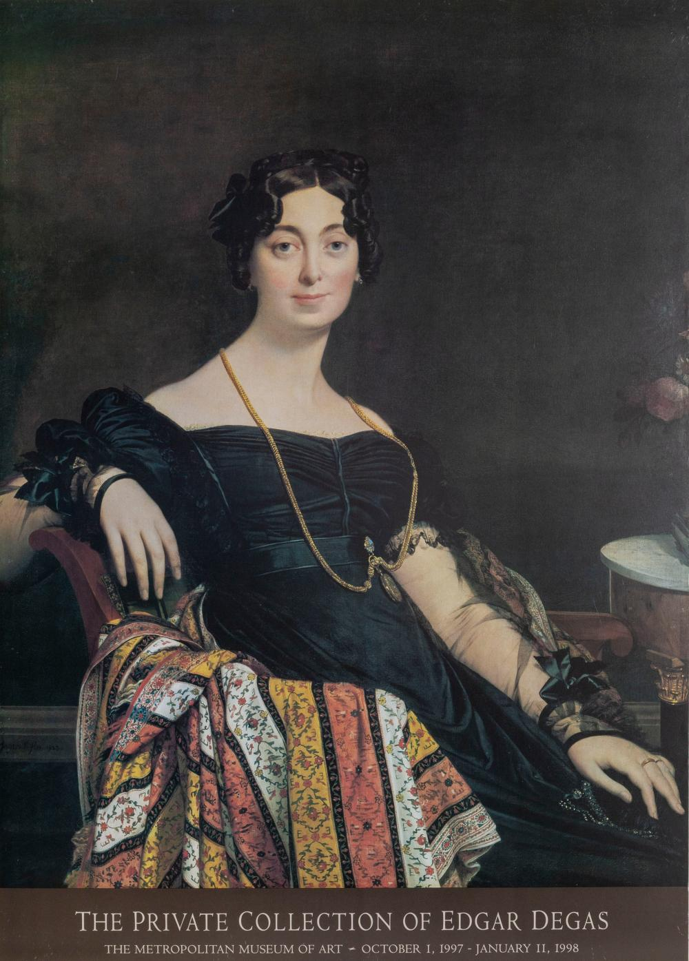 Jean-Auguste-Dominique Ingres, Portrait of Madame Leblanc, Poster on foamcore