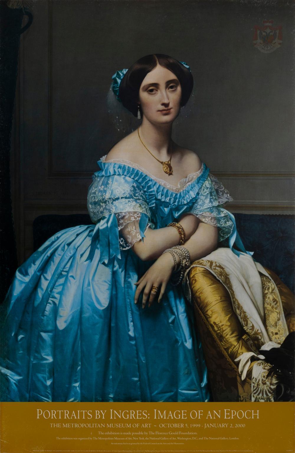 Jean-Auguste-Dominique Ingres, The Princesse de Brogile, Poster on foamcore