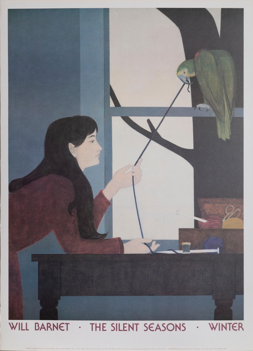 Will Barnet, The Silent Seasons - Winter, Poster on board