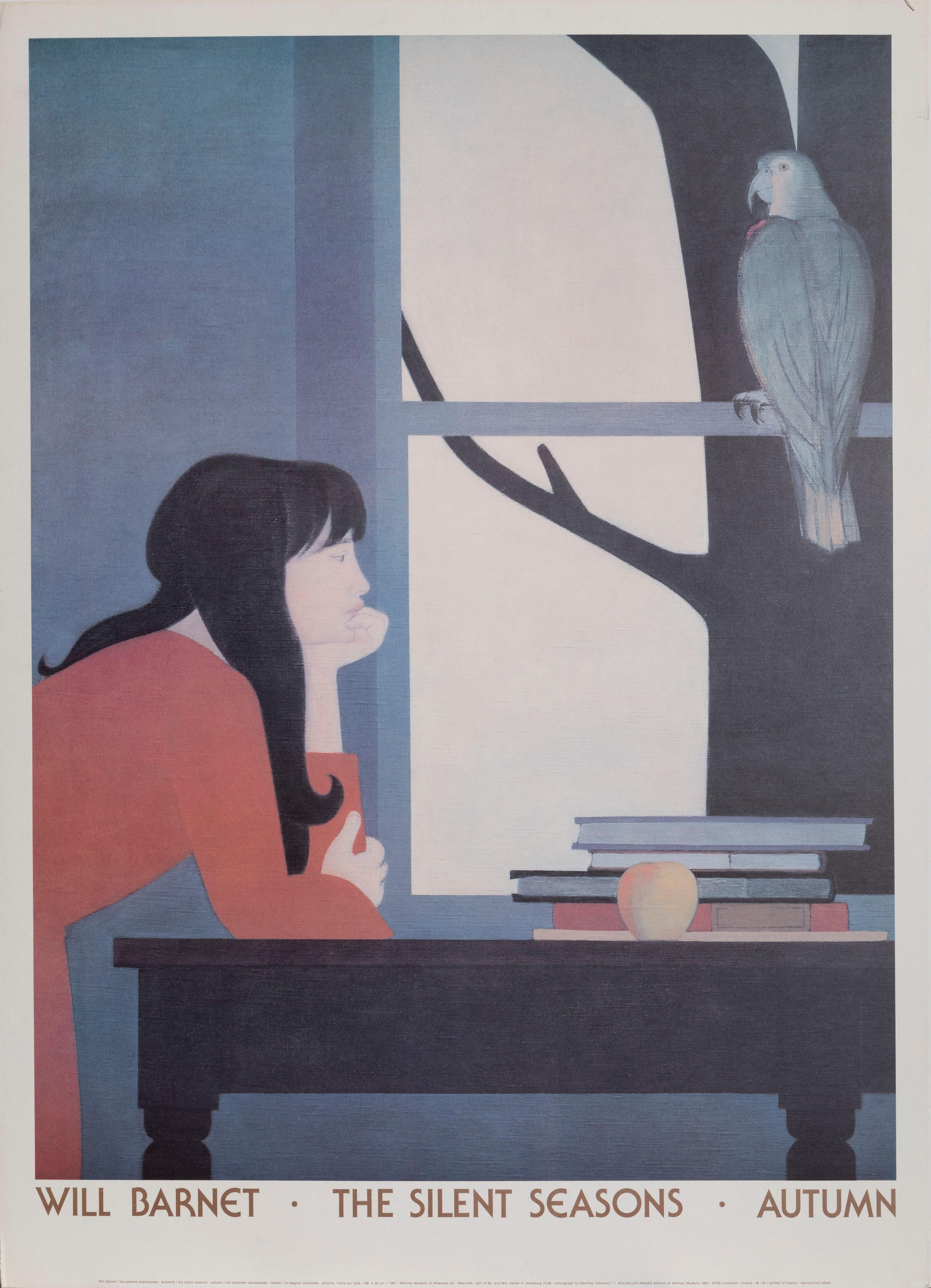 Will Barnet, The Silent Seasons - Autumn, Poster on board