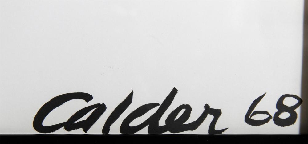 Alexander Calder, Red Sun, Lithograph