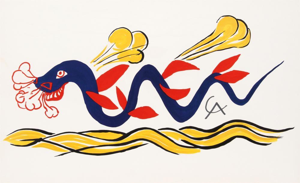 Alexander Calder, Beastie, Lithograph