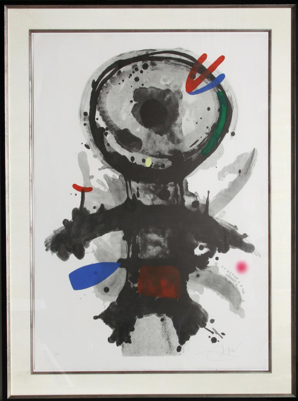 Joan Miro, L'Ange de Crible, Aquatint