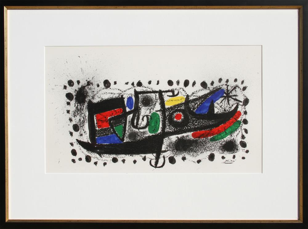 Joan Miro, Joan Miro und Katalonien, Lithograph on Arches Paper
