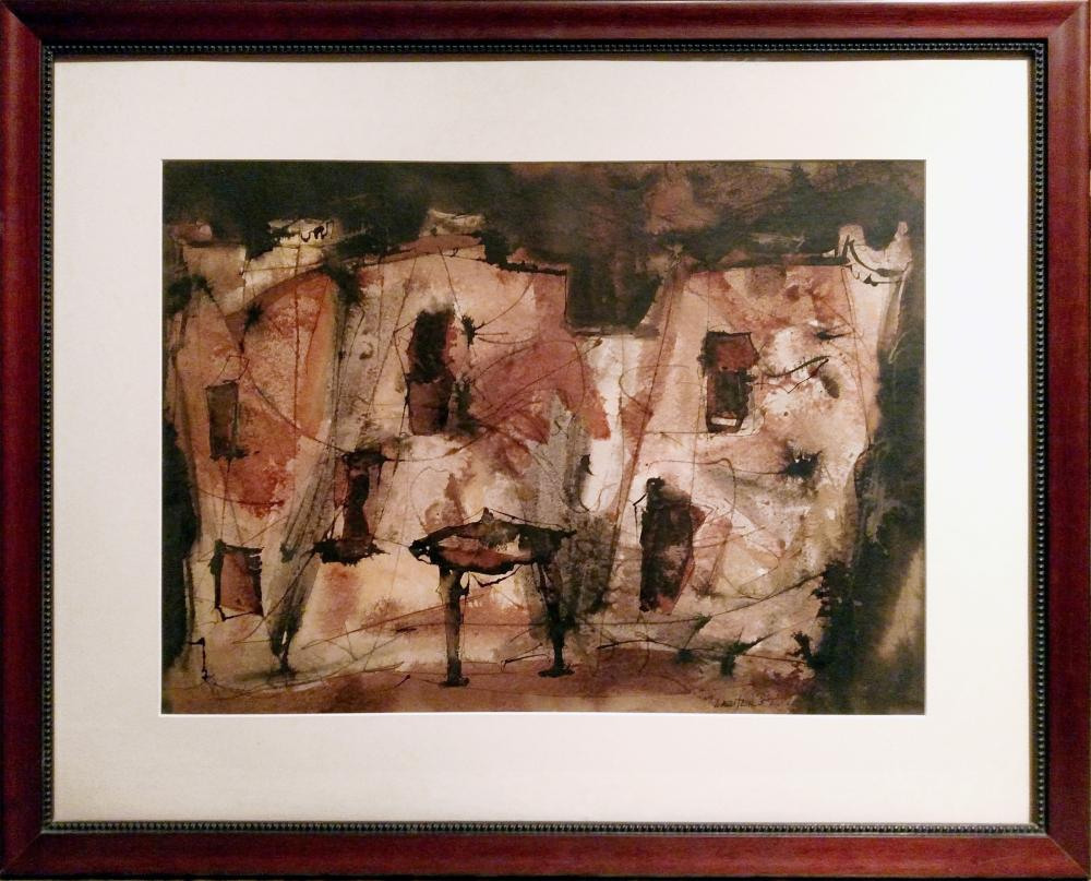 Charles Keeling Lassiter, Abstract Building, Watercolor Drawing
