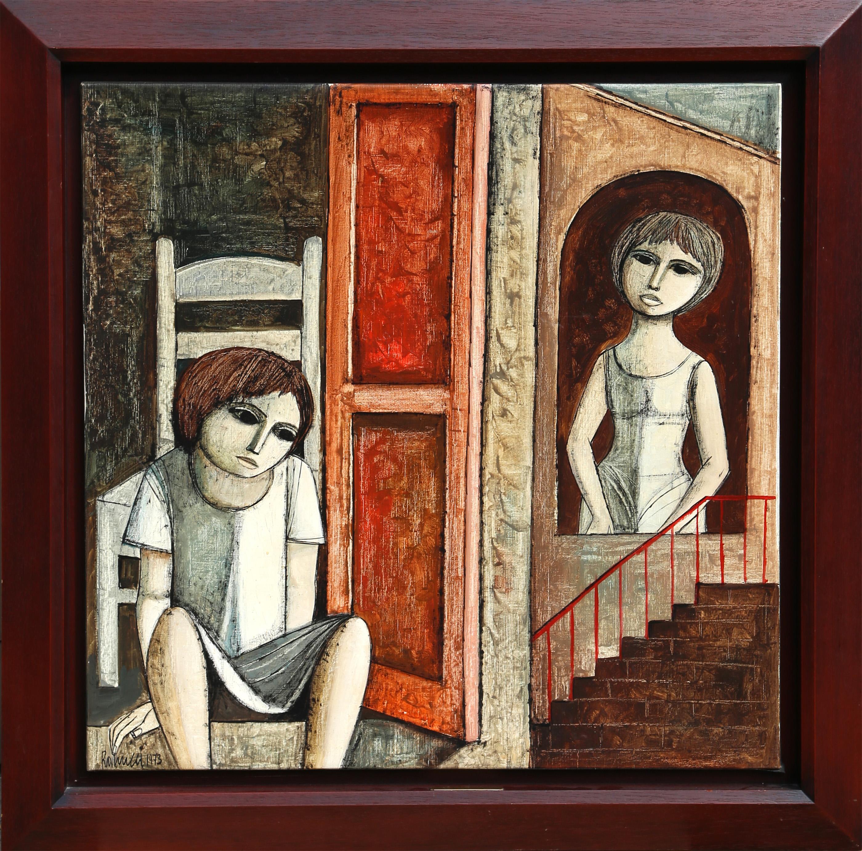 Lucio Ranucci, Seated Boy, Oil Painting