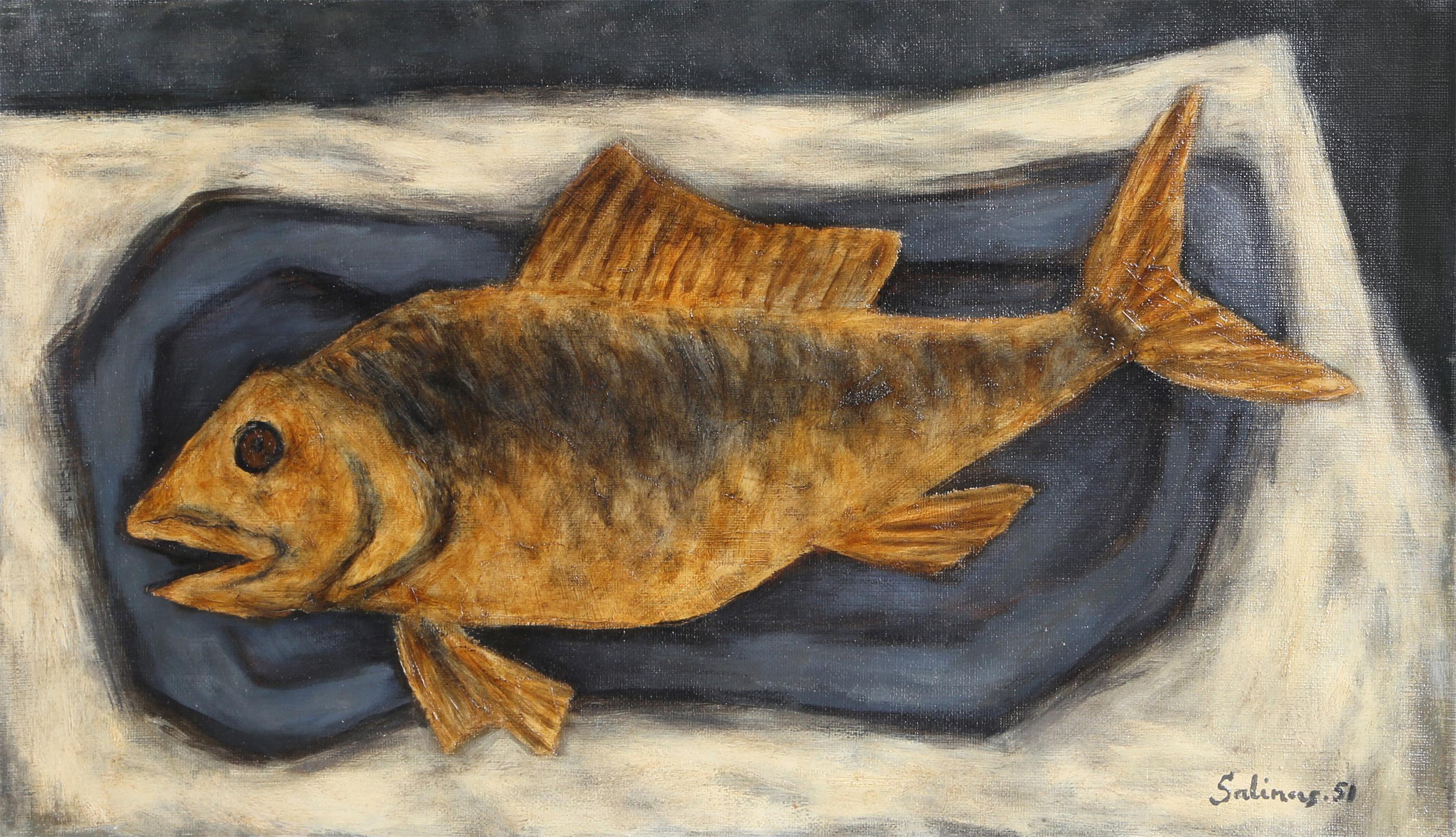 Laurent Marcel Salins, Nature Morte avec Poisson Orange
