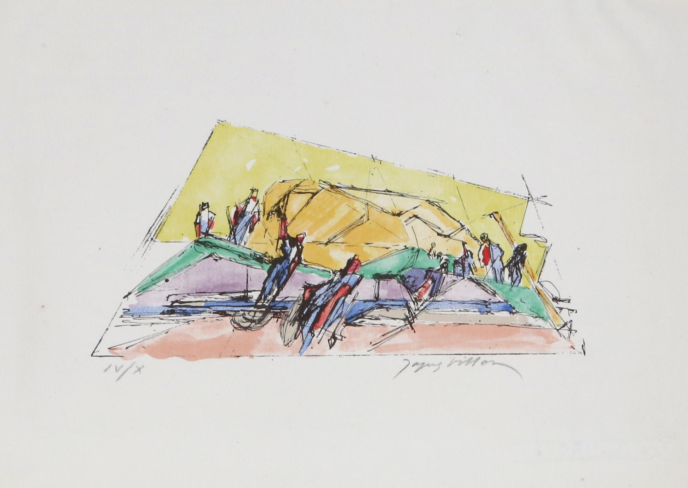 Jacques Vilon, La Moisson from Poemes de Leur Temps, Lithograph
