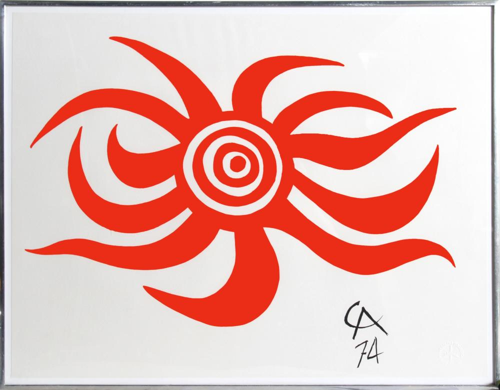 Alexander Calder, Sunburst from Flying Colors for Braniff Airlines, Lithograph