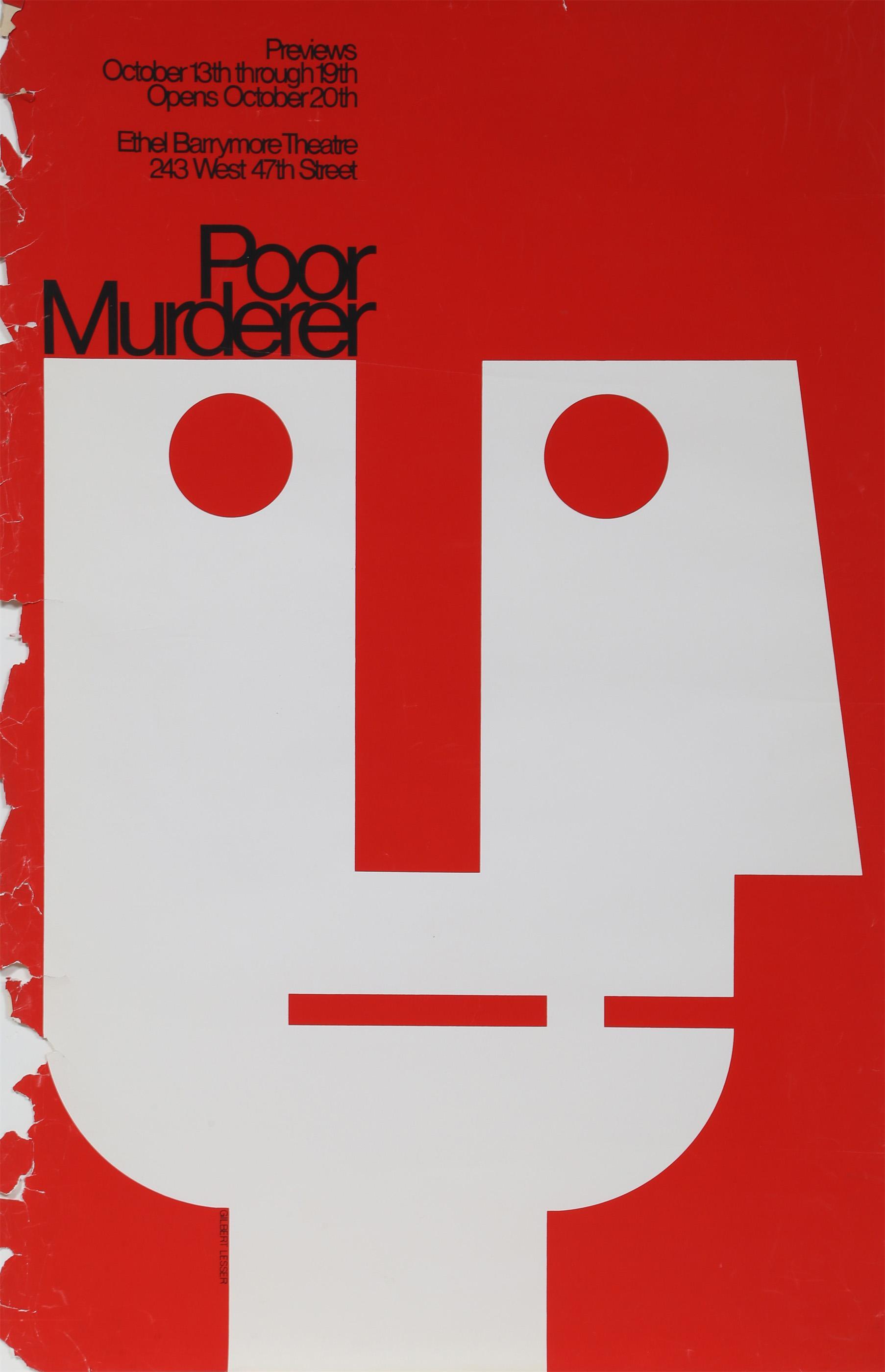 Gilbert Lesser, Poor Murderer, Poster