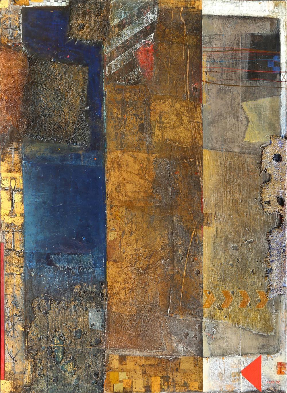 Gleb Sergeevich Bogomolov, Arc with Golden Vertical, Oil Painting
