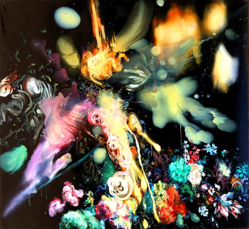 Alisa Margolis, Battle: The Second One, Oil and Epoxy Resin on Canvas