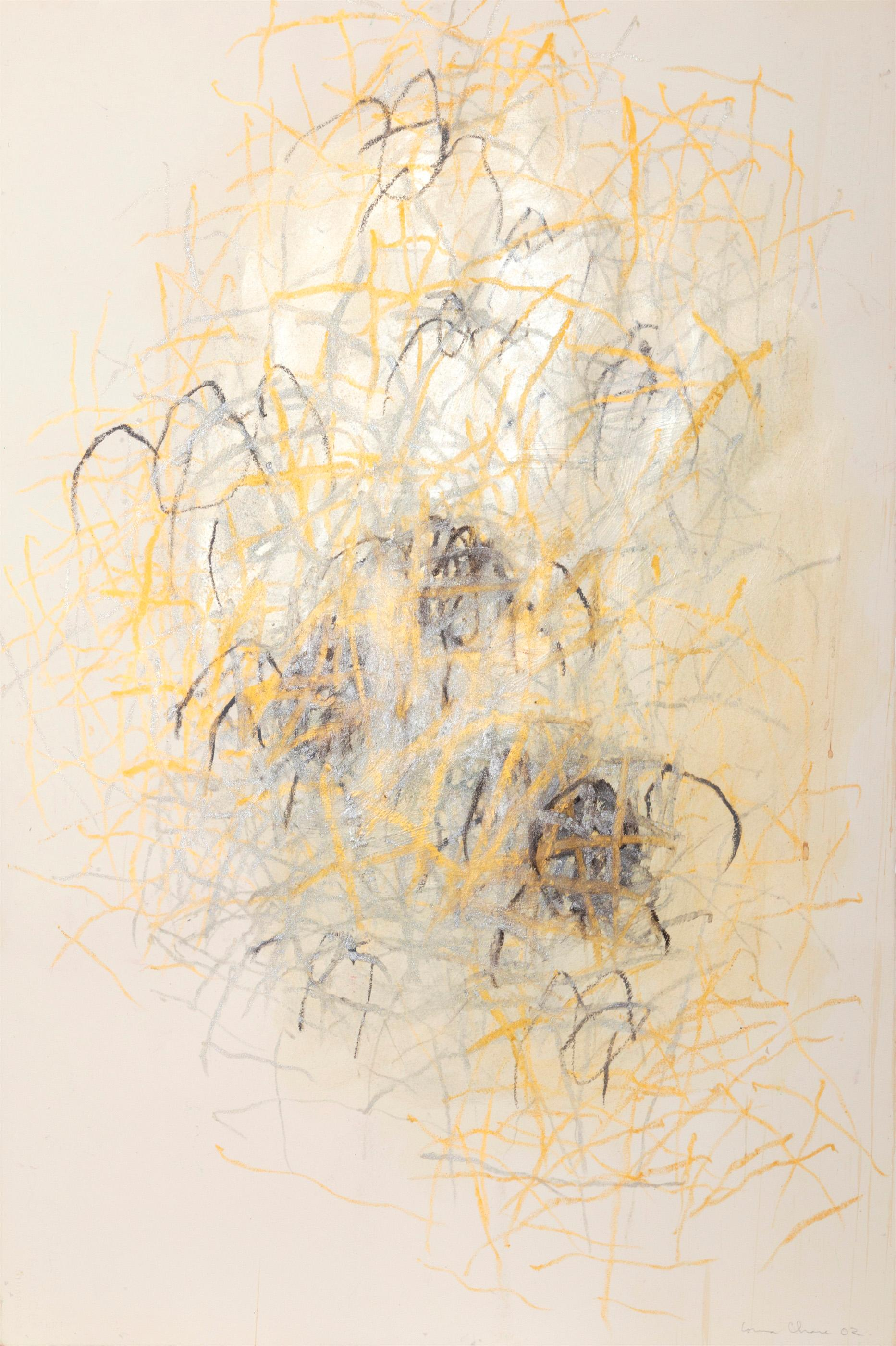 Louisa Chase, Spiders, Acrylic and Oil Pastel