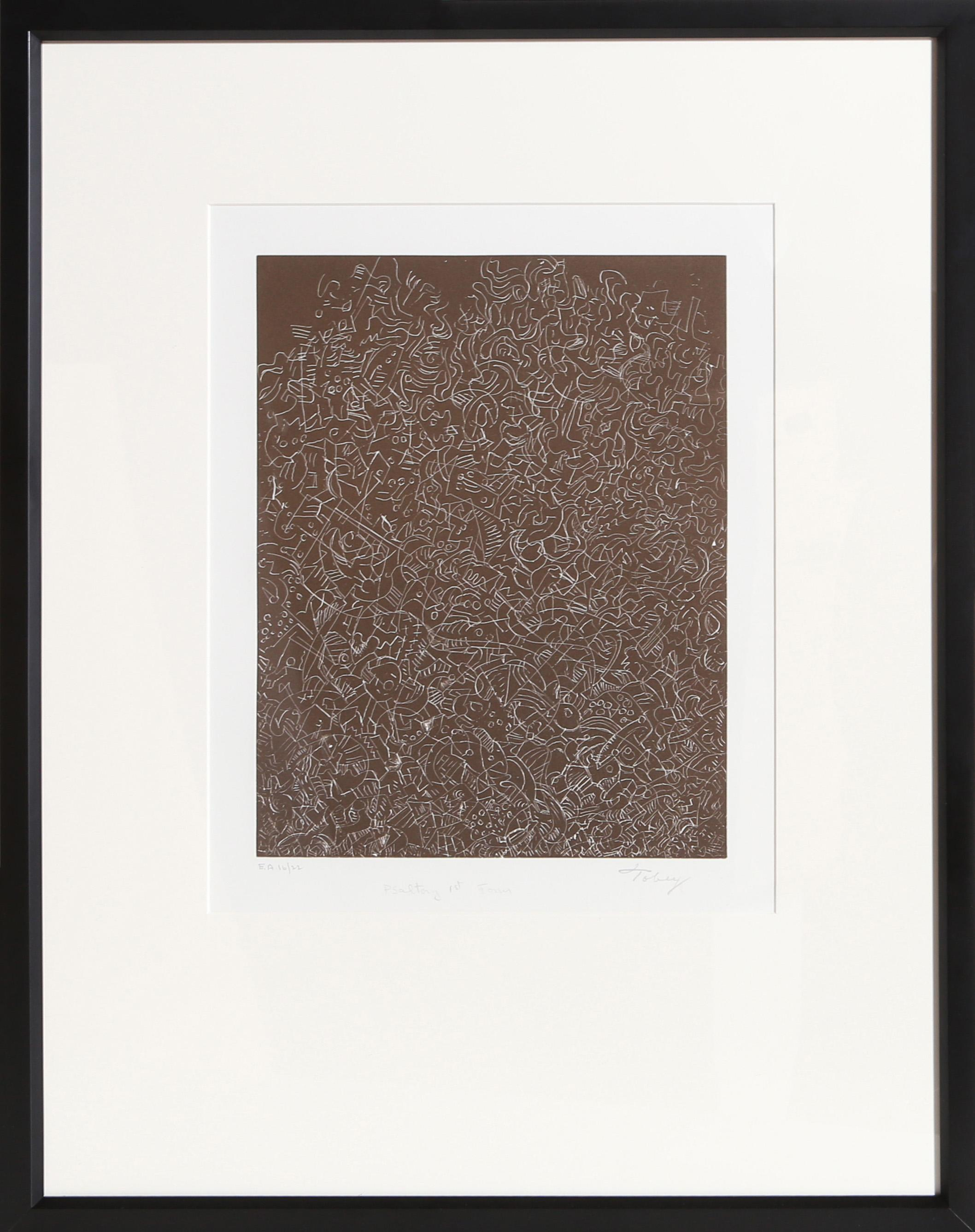 Mark Tobey, Psaltery, 1st Form, Etching