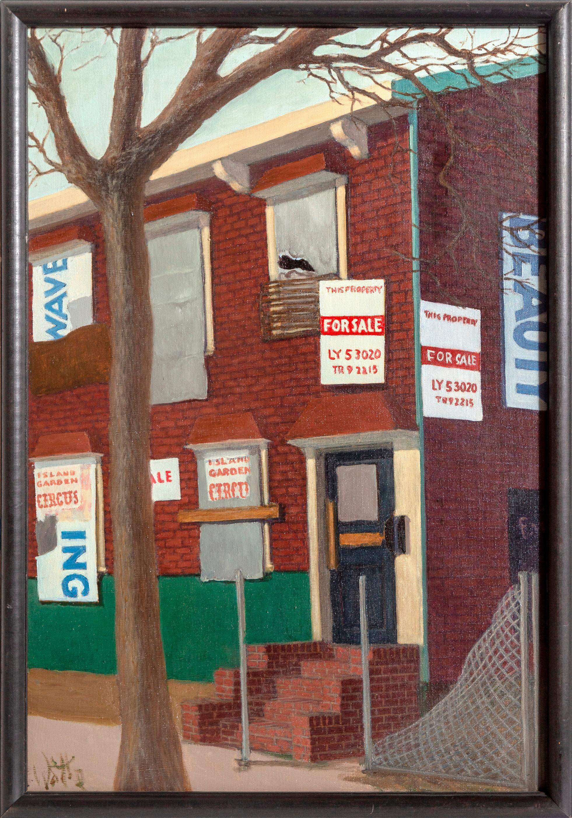 William Waithe, Foreclosed House, Oil Painting