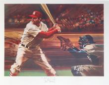 Robert Peak, Stan Musial from Sports Illustrated Living Legends Portfolio, Lithograph