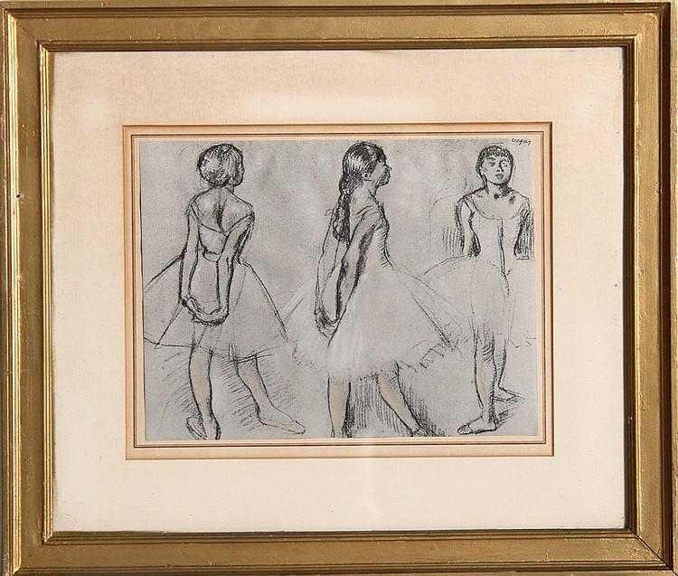 Edgar Degas, Etude des 3 Dan Seuses, Offset Lithograph