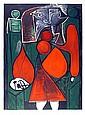 Pablo Picasso, Femme en Rouge su Fauteuil, Lithograph