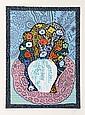 Maurice Litvak, Flower Symphony - Blue, Serigraph