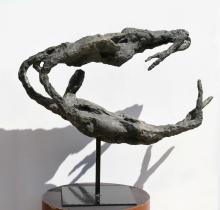 Gerard Koch, Trapeze Artists, Bronze Sculpture