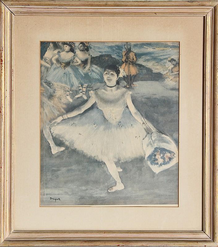 Edgar Degas, Taking a Bow, Poster