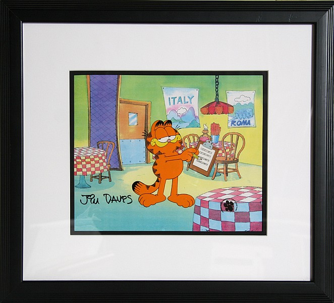 Jim Davis, Garfield Italian Restaurant, Production Cel