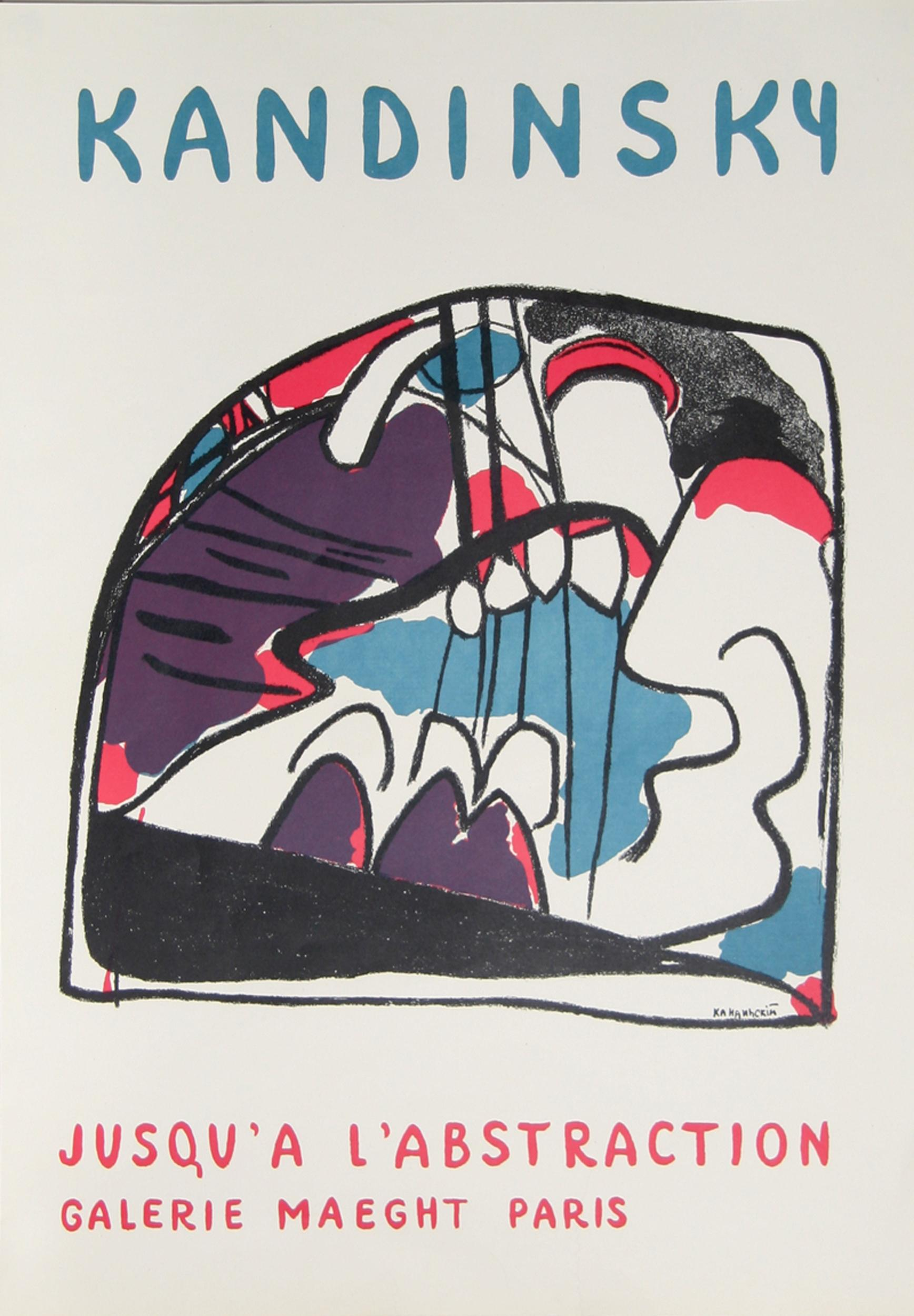Wassily Kandinsky, Jusqu'a L'Abstraction - Galerie Maeght, Lithograph Poster