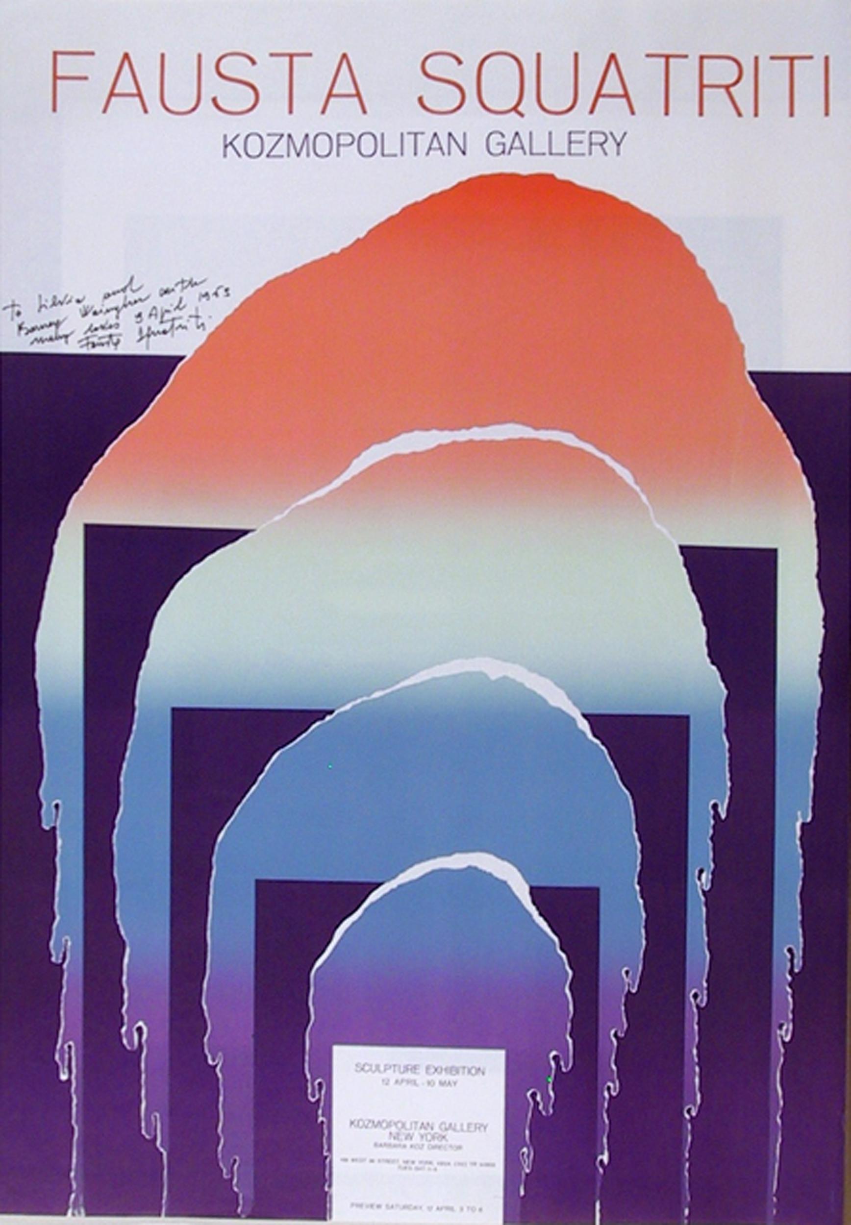 Fausta Squatriti, Kozmopolitan Gallery, Lithograph Poster