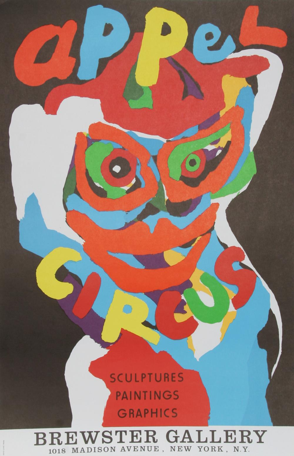 Karel Appel, Cirque at Brewster Gallery, Lithograph Poster