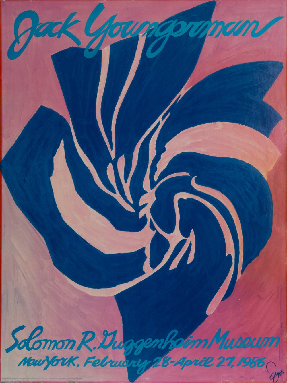 Jack Youngerman, Guggenheim Poster, Poster on board