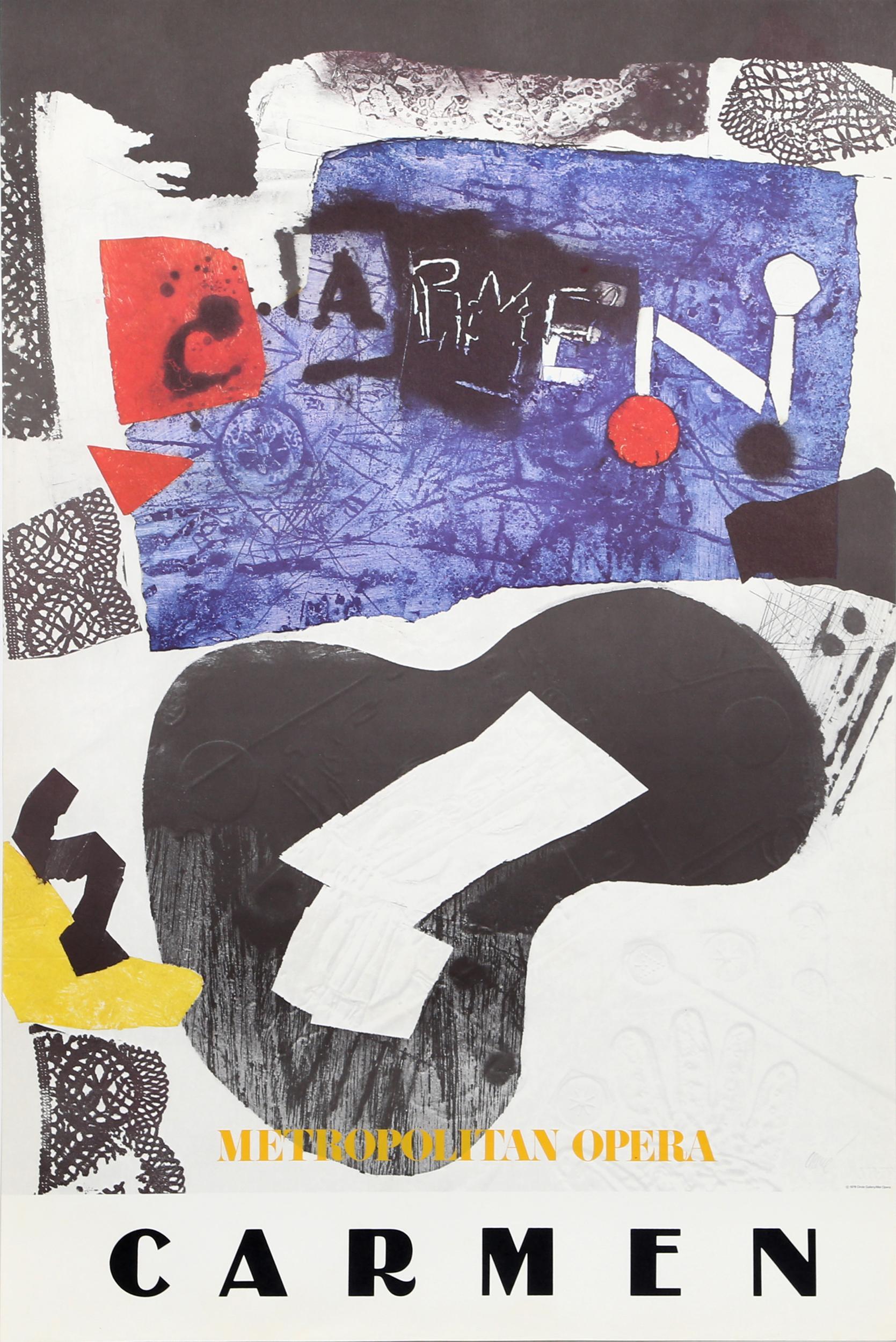 Antoni Clave, Metropolitan Opera - Carmen, Poster