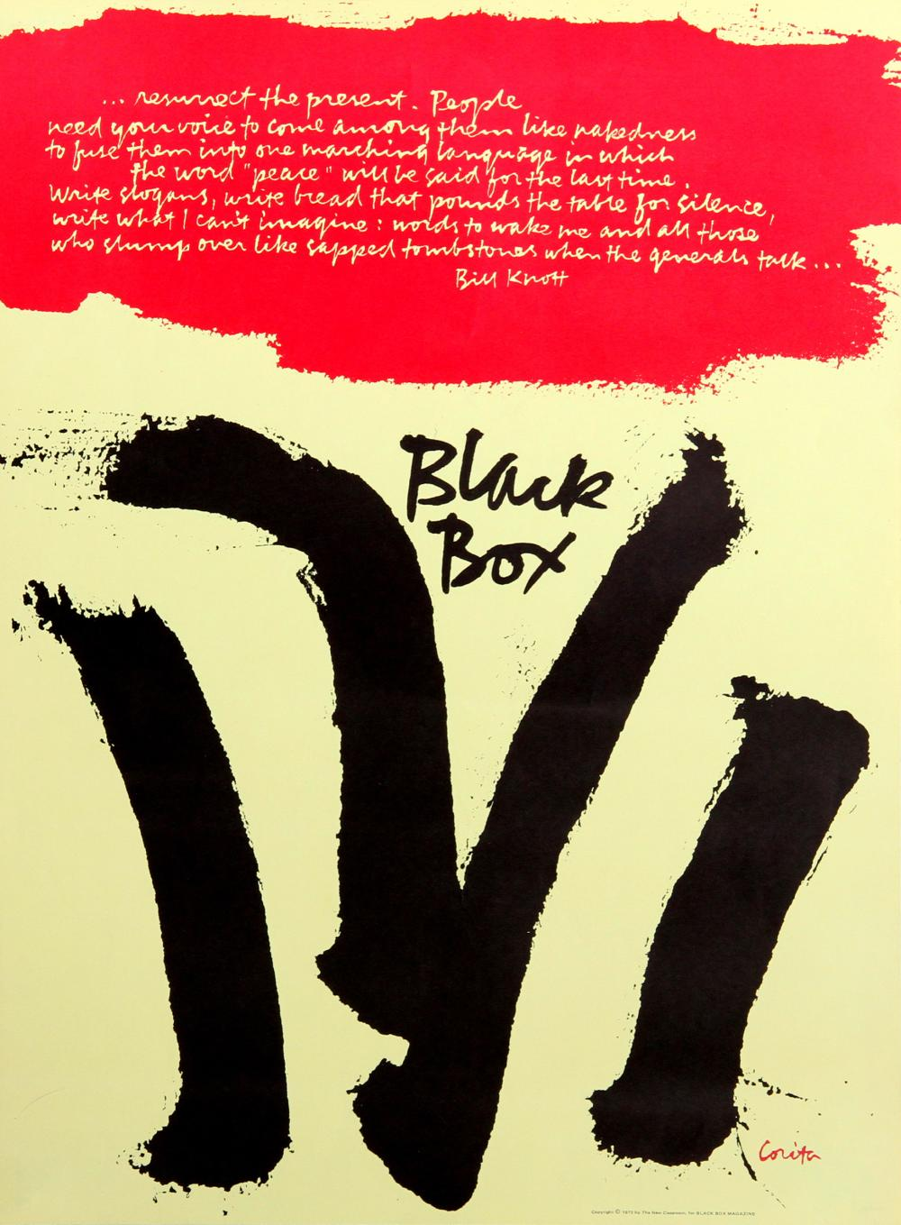 Sister Mary Corita Kent, Black Box, Poster
