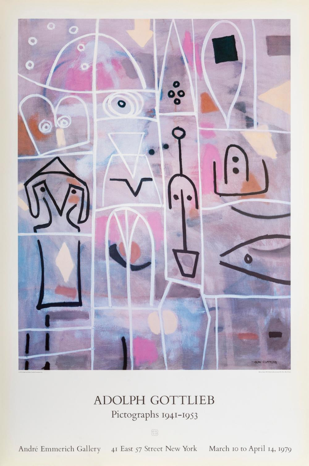 Adolph Gottlieb, Weirs at Dawn, Poster on foamcore