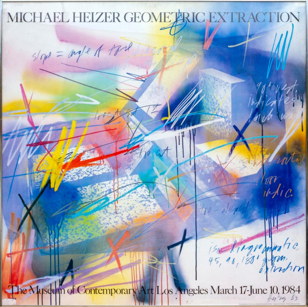 Michael Heizer, Geometric Extraction, Poster