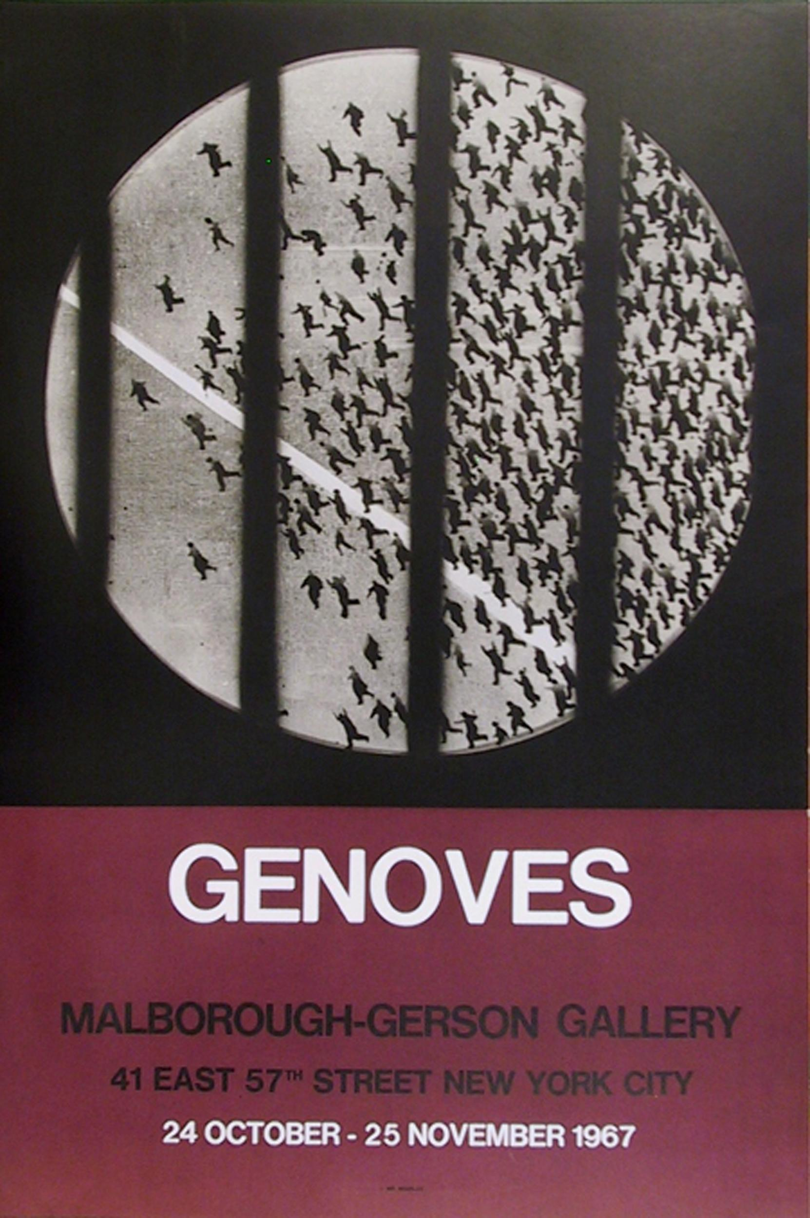 Juan Genoves, Marlborough - Gerson Gallery, Poster