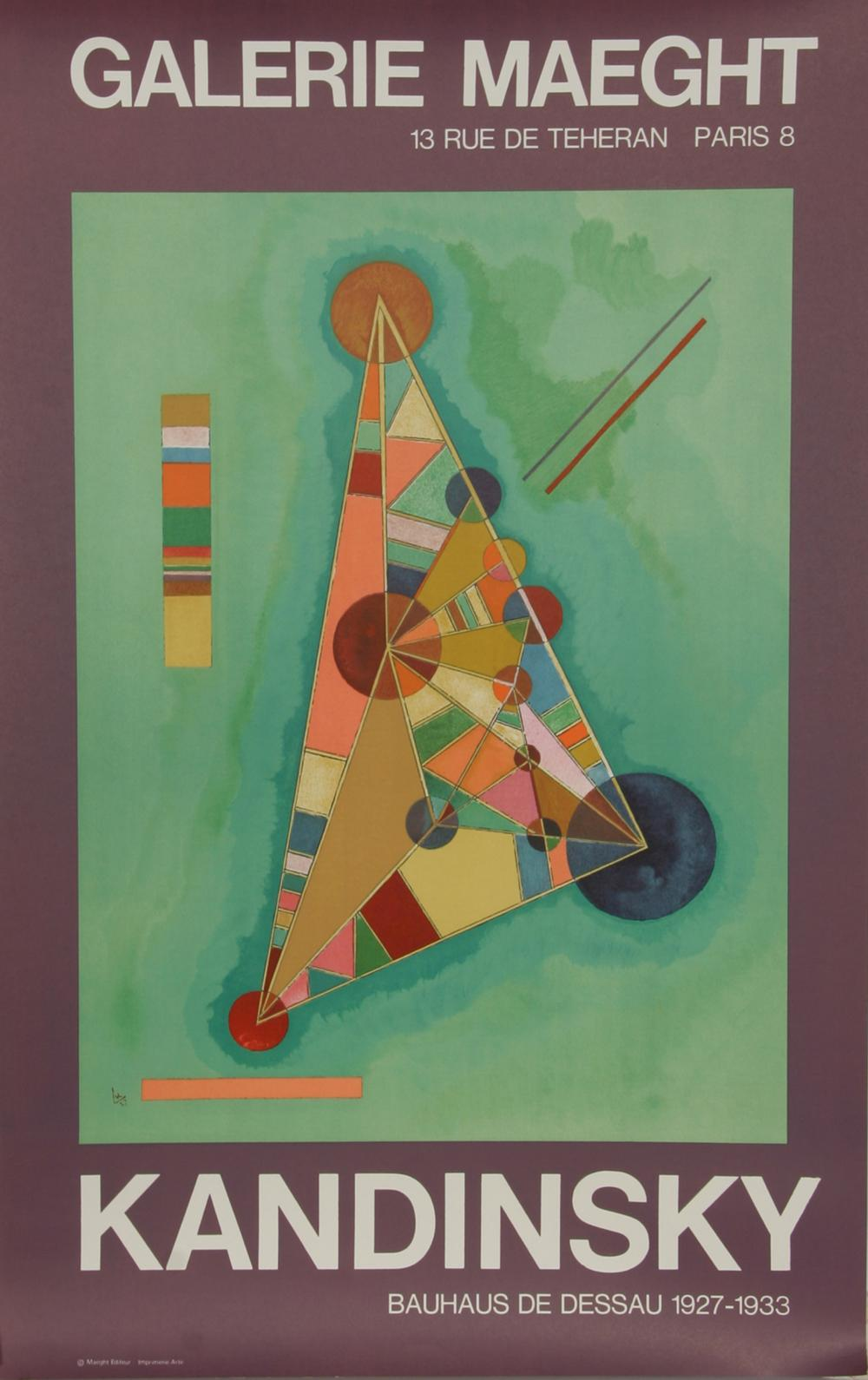Wassily Kandinsky, Exhibition at Galerie Maeght, Lithograph Poster