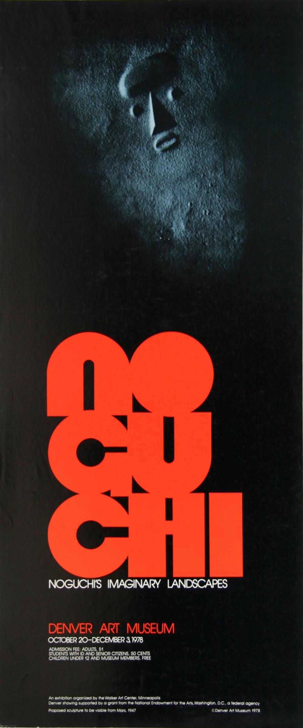 Isamu Noguchi, Imaginary Landscapes, Poster on Foil