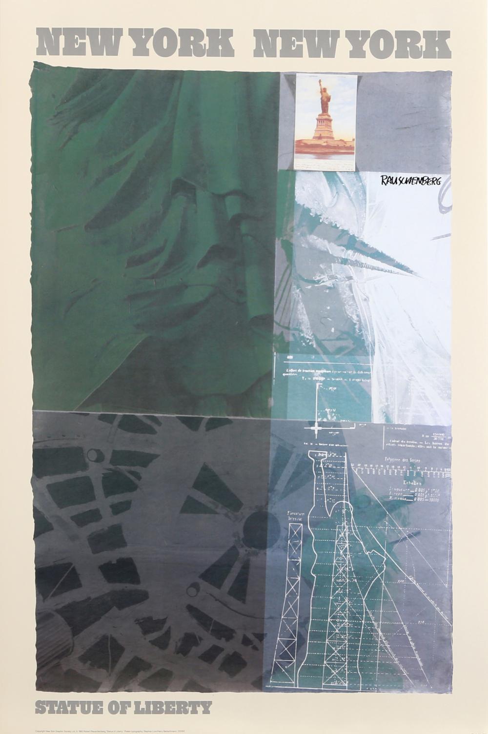 Robert Rauschenberg, Statue of Liberty, Poster