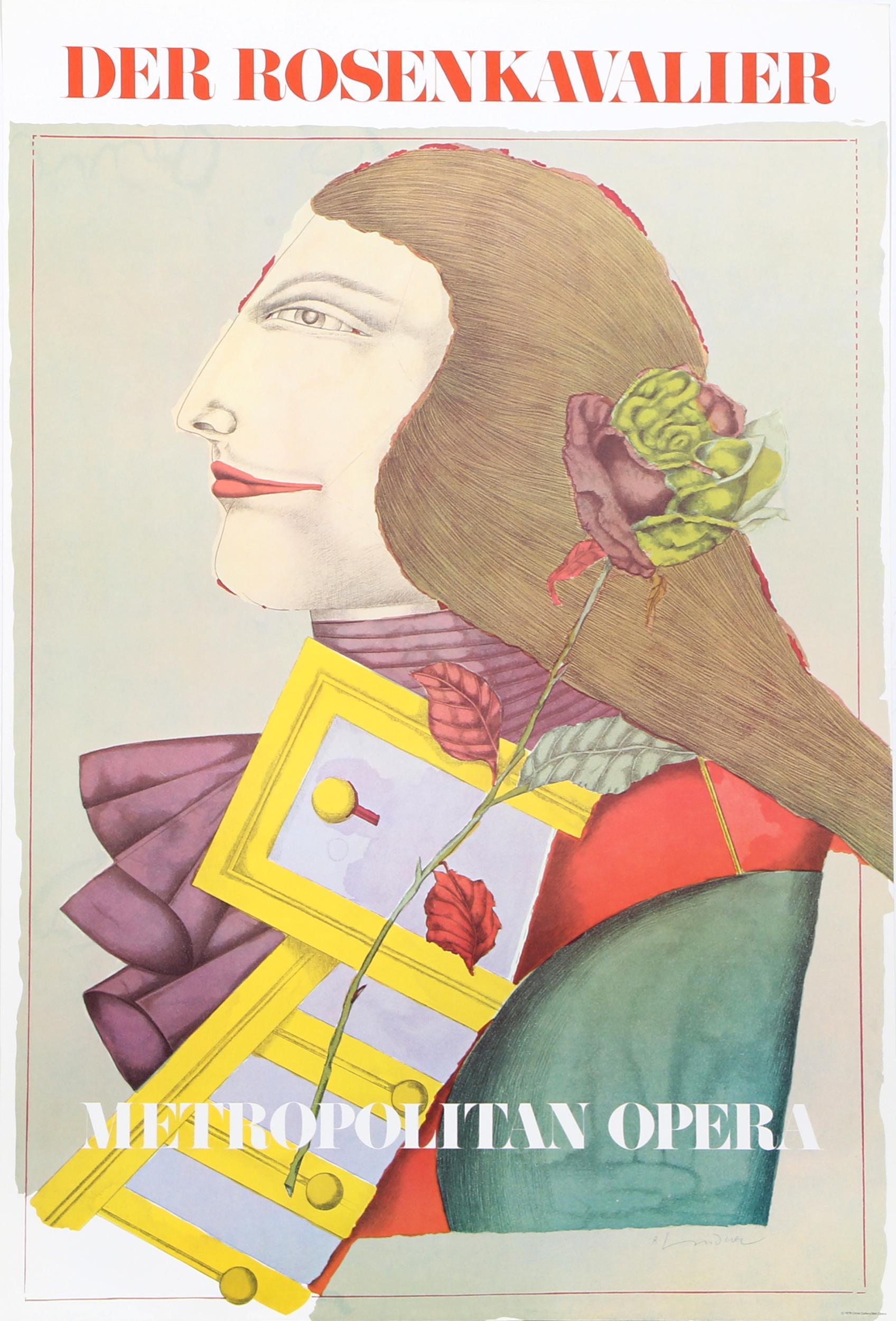 Richard Lindner, Der Rosenkavalier (Metropolitan Opera), Poster