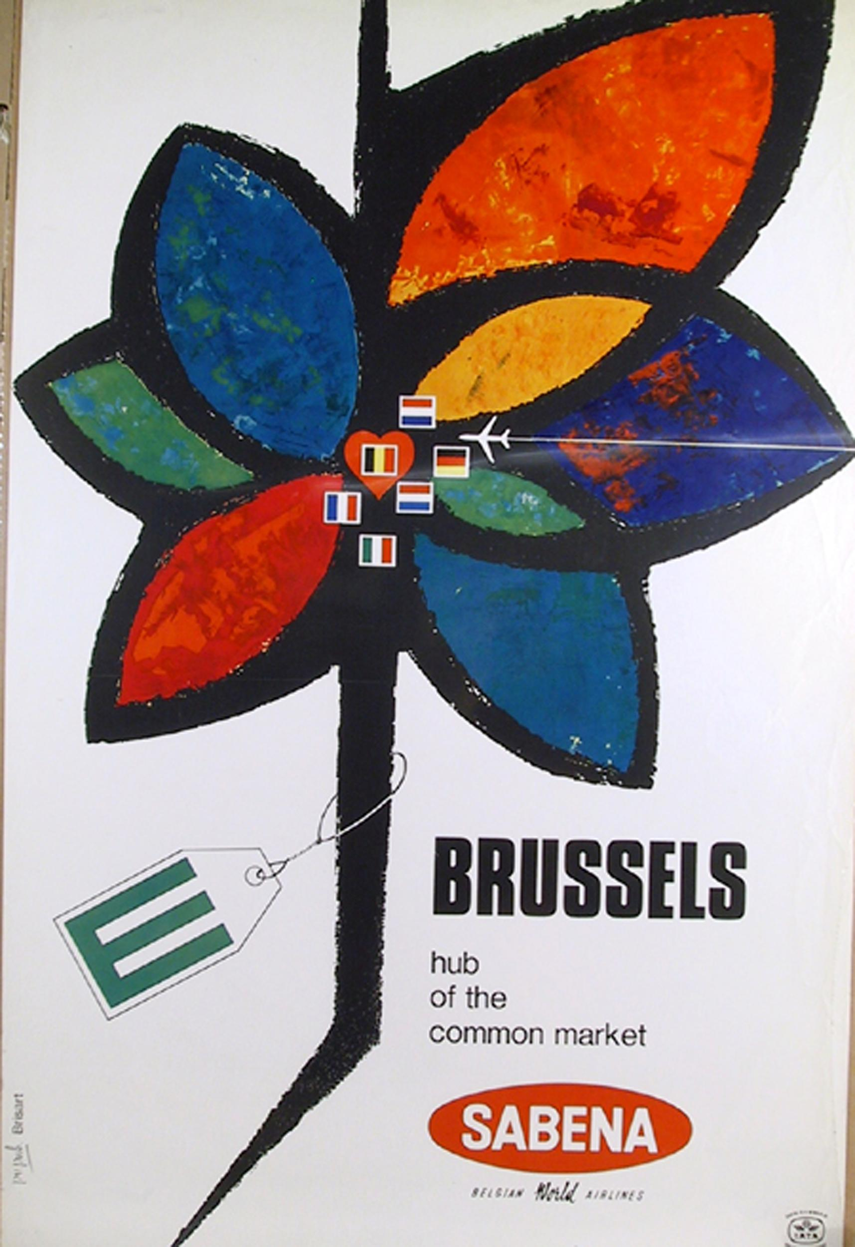 Brussels - Sabena, Travel Poster