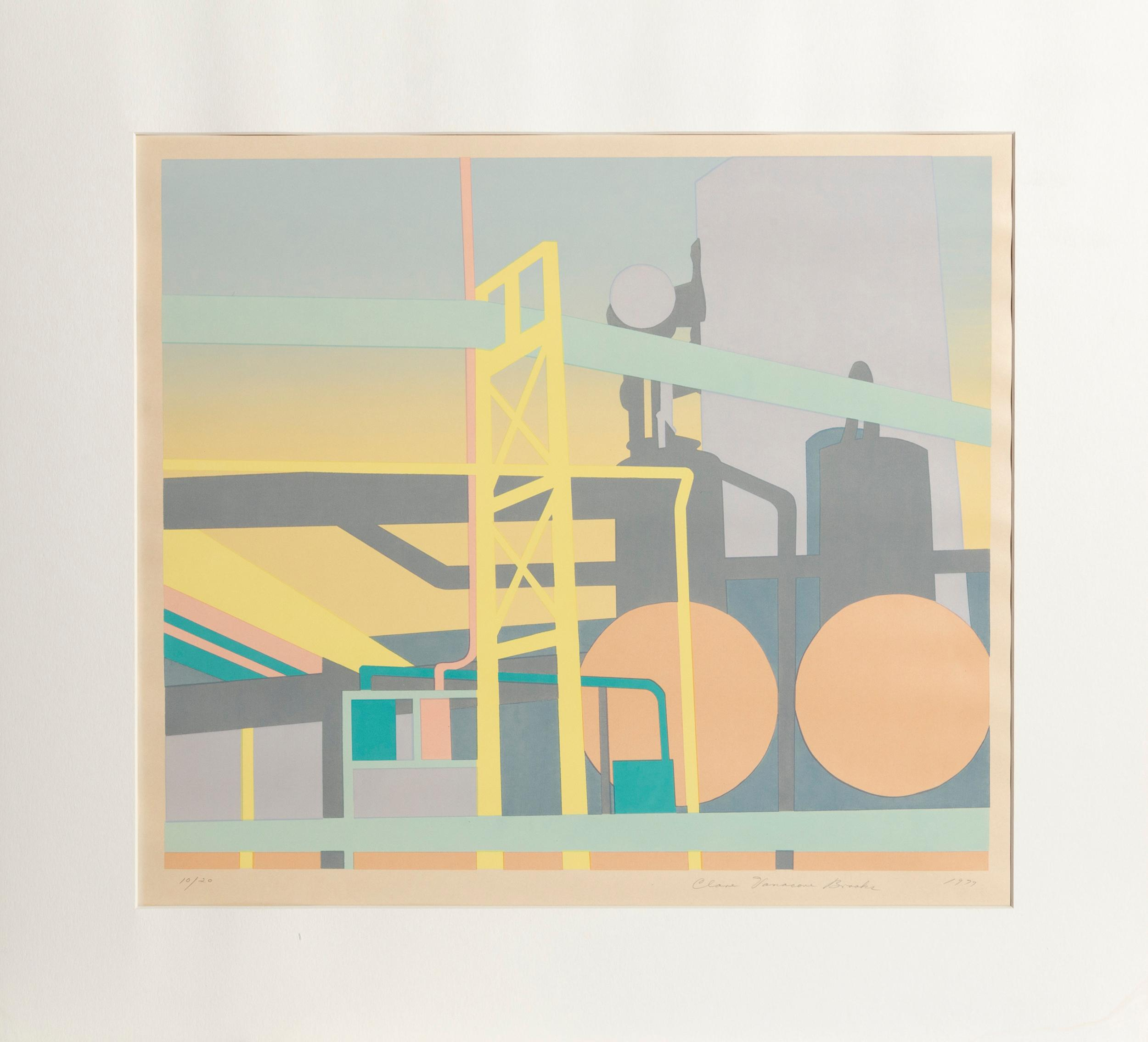 Clare Vanacore Brooks, Factory, Screenprint