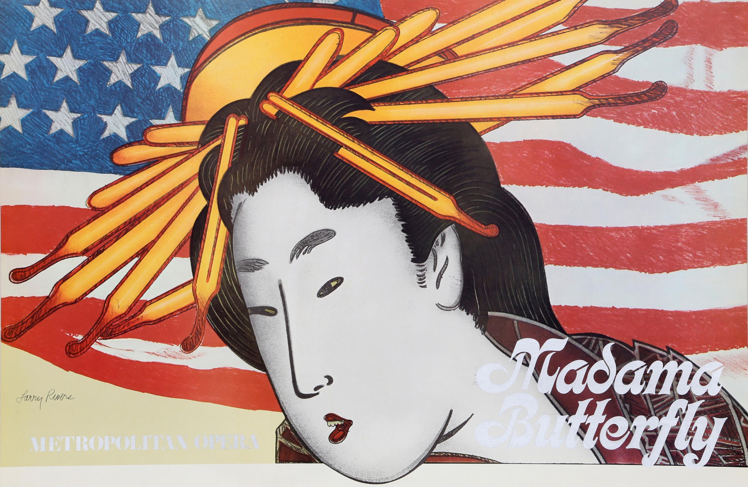 Larry Rivers, Metropolitan Opera - Madama Butterfly, Poster