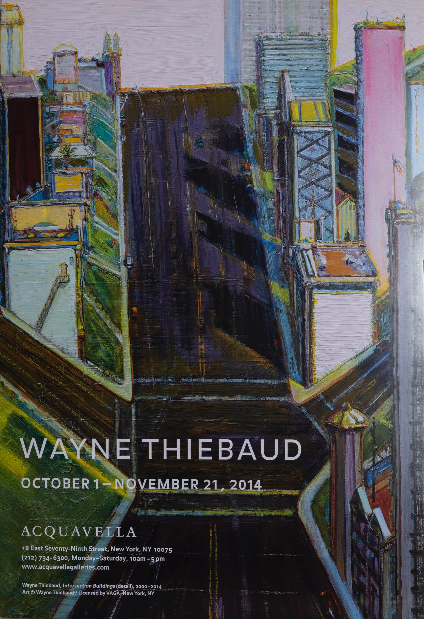 Wayne Thiebaud, Intersection Buildings, Poster on foamcore