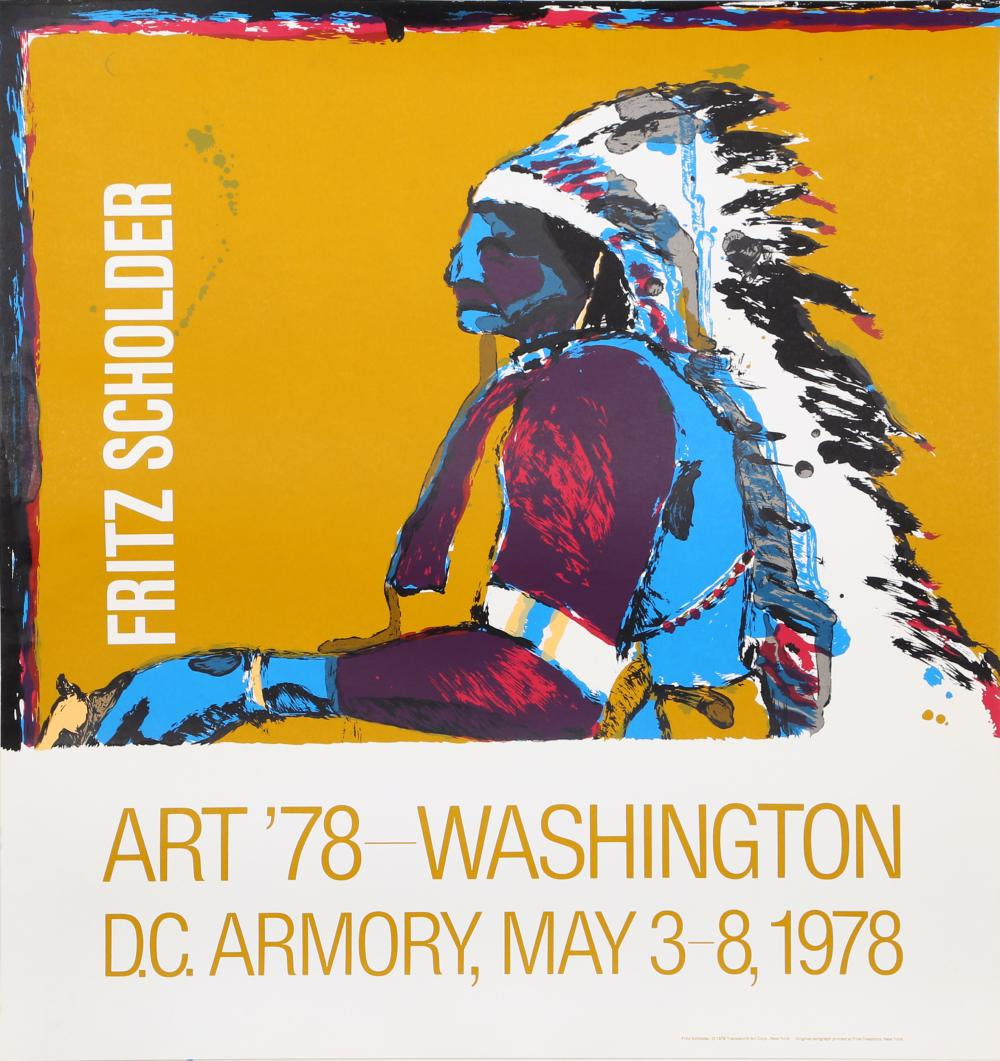 Fritz Scholder, Art '78 - Washington D.C. Armory Show, Serigraph Poster