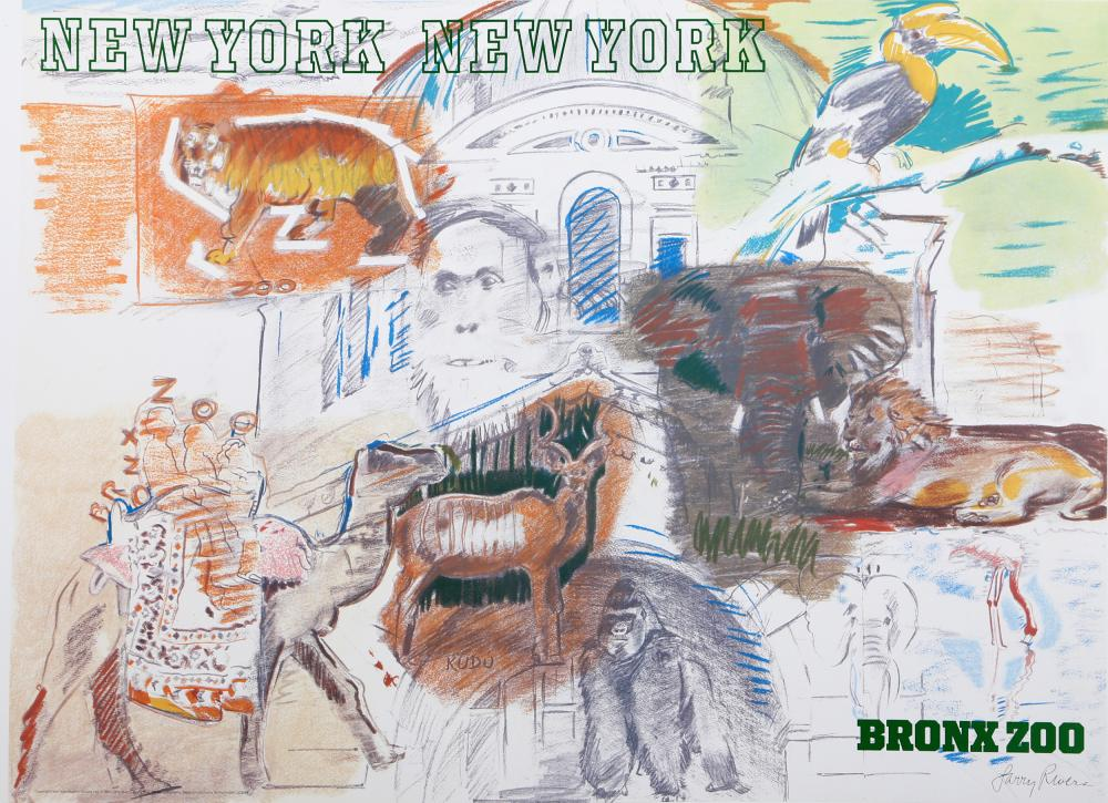 Larry Rivers, New York City - Bronx Zoo, Poster