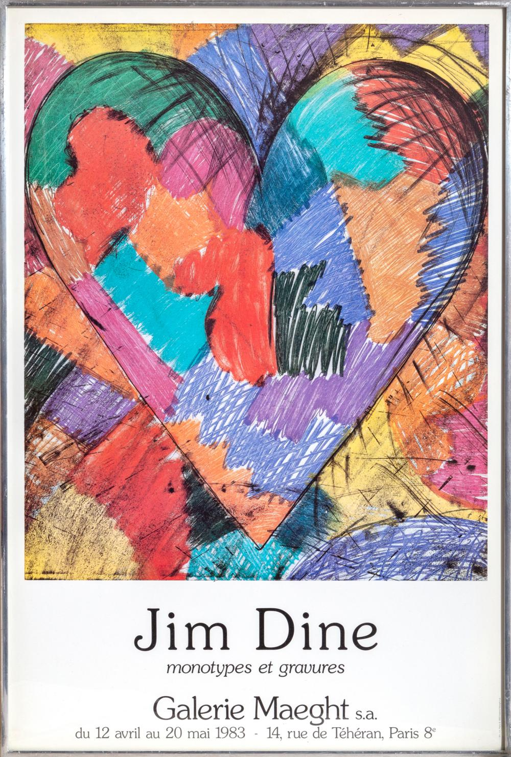 Jim Dine, Galerie Maeght, Hearts, Poster