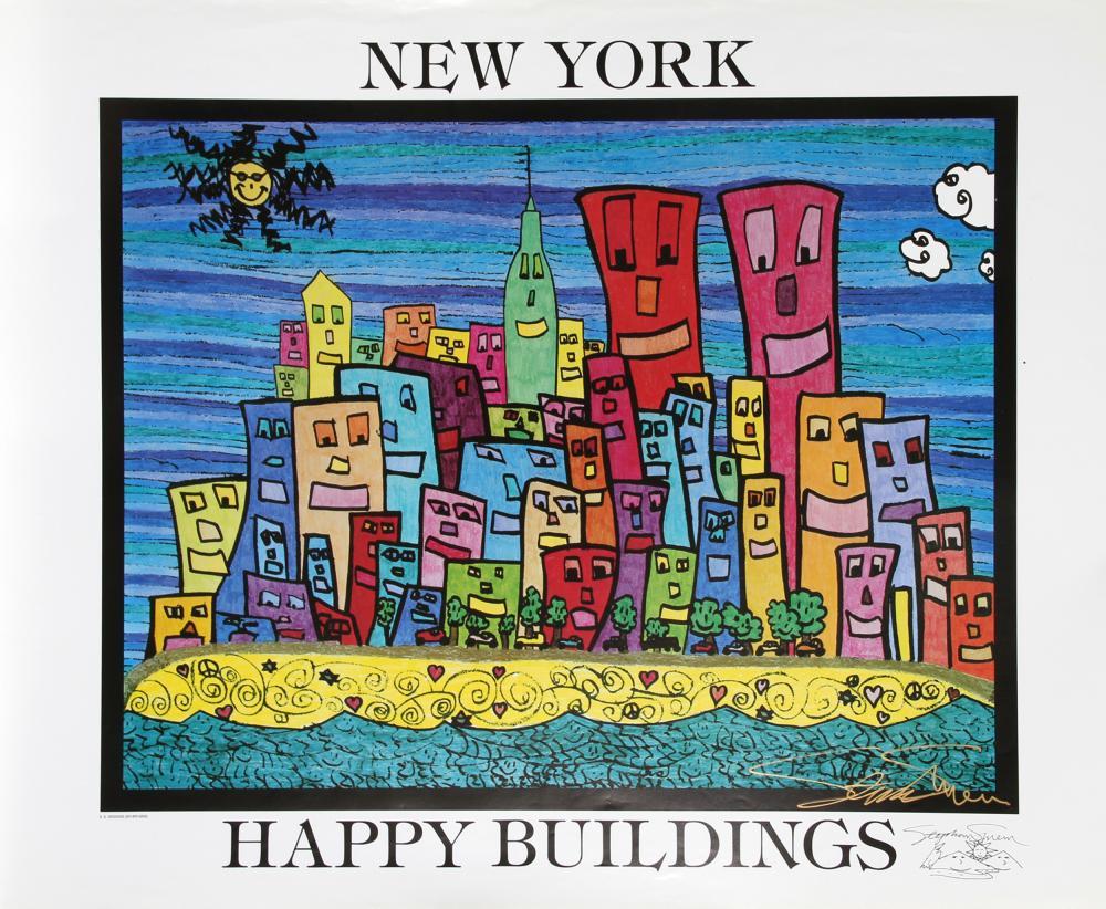 Stephan Shrem, New York Happy Buildings, Poster