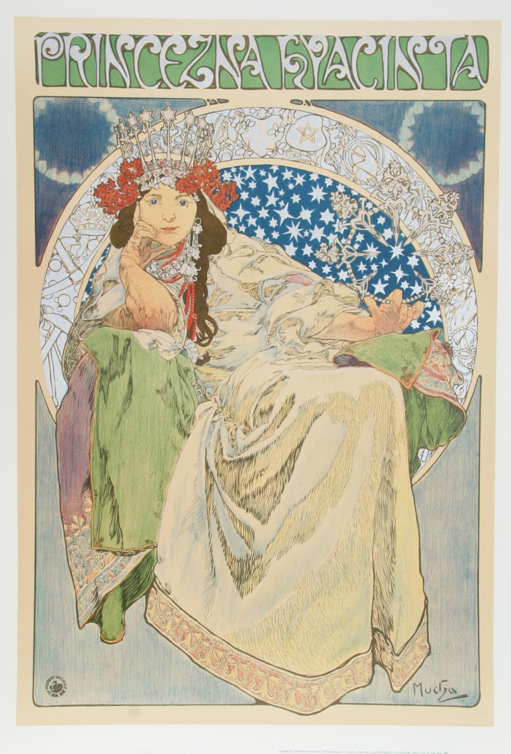 Alphonse Mucha, Princezna Hyacinta, Lithograph Poster