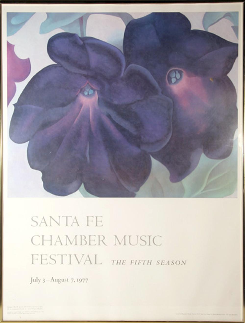 Georgia O'Keeffe, Santa Fe Chamber Music Festival, Poster